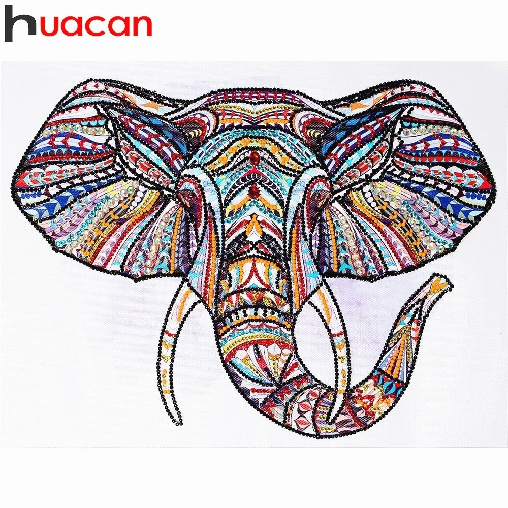 Huacan Special Shaped Diamond Embroidery Animal 5D Diamond Painting Cross Stitch Mosaic Home Decoration Painting 40x30cmHuacan Special Shaped Diamond Embroidery Animal 5D Diamond Painting Cross Stitch Mosaic Home Decoration Painting 40x30cm