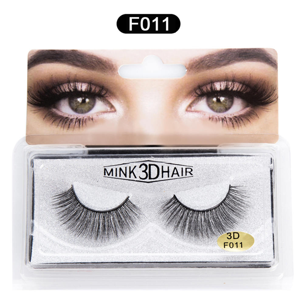 3D Mink Lashes 1 Box 1 Pair Natural Thick Messy False Eyelashes Pure Handmade Fake Eyelashes Eye Makeup Accessories in False Eyelashes from Beauty Health