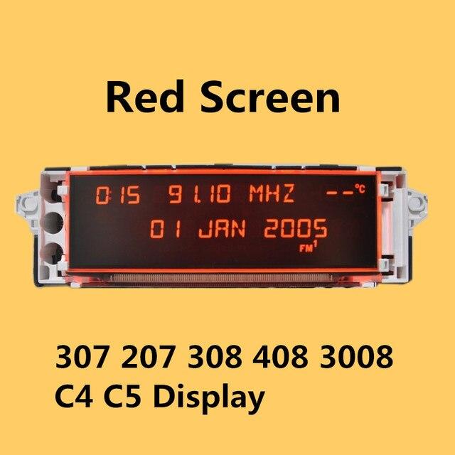 Coche Original soporte de pantalla USB AUX pantalla rojo Monitor 12 pin adecuado 307, 207, 308, 408, 3008 C4 C5 pantalla
