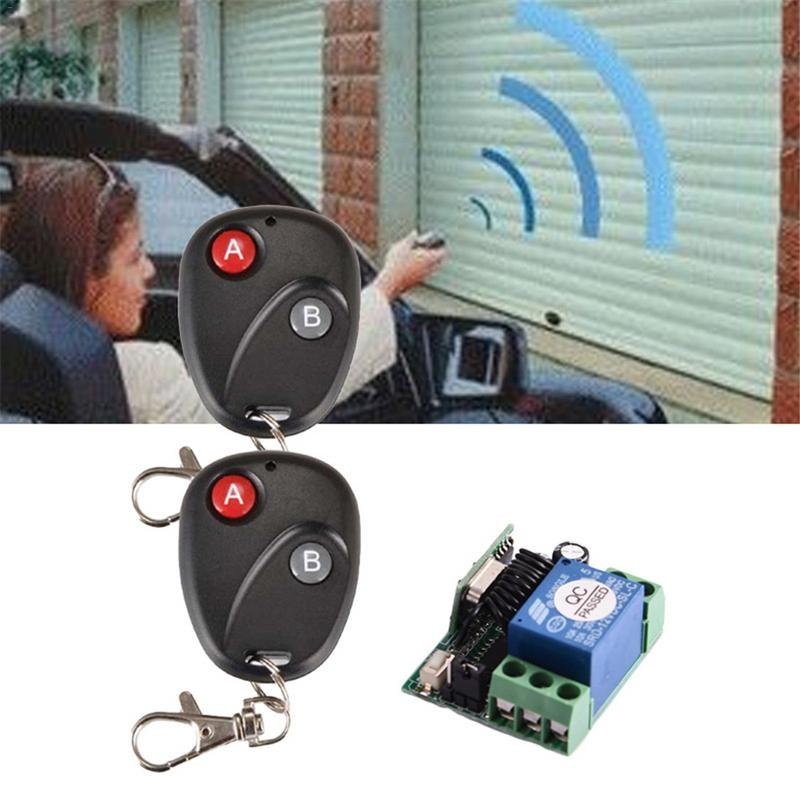 Electric Vehicle Parts Dc 12v 10a Wireless Rf Remote Controls Auto Lifting Switches Transmitter Receiver Connecting Door Control System Gate Garage