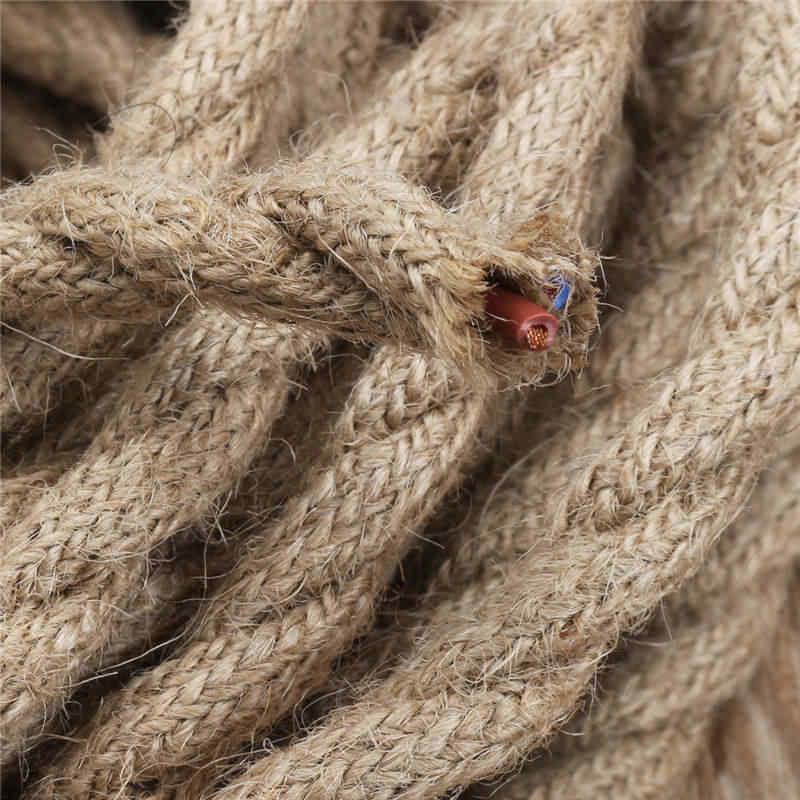 SWILET 10 м 2x0,75 мм пеньковая веревка провод ретро DIY Плетеный тканевый электропровода кабель двойной витой кабель для подвесной лампы