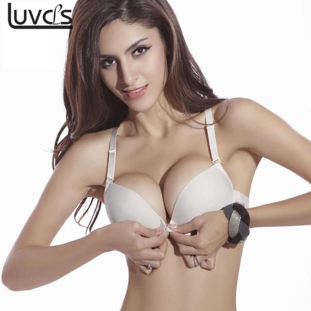 17c8359787 Adjustable Push Up Bra Sexy Front Button Bra Push Up Underwear Buckle Female  Small Chest Bra Seamless Women Cotton Bra Underwear