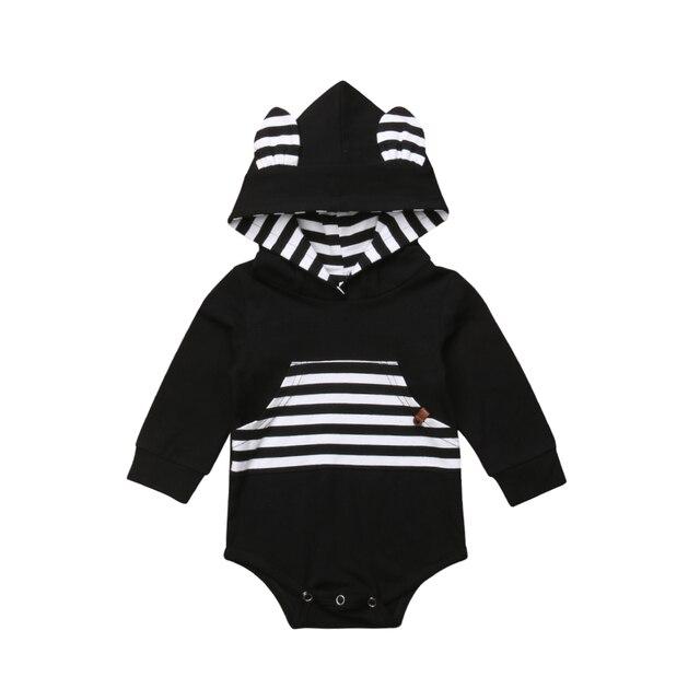 919c83004f0 Bebé recién nacido Bebé Ropa niños niñas mono de manga larga mono con  capucha trajes de