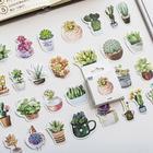 VODOOL 50pcs/box Green Plants DIY Stickers Label Diary Journal Kawaii Scrapbooking Mini Paper Decorative Sticker Stationery Gift