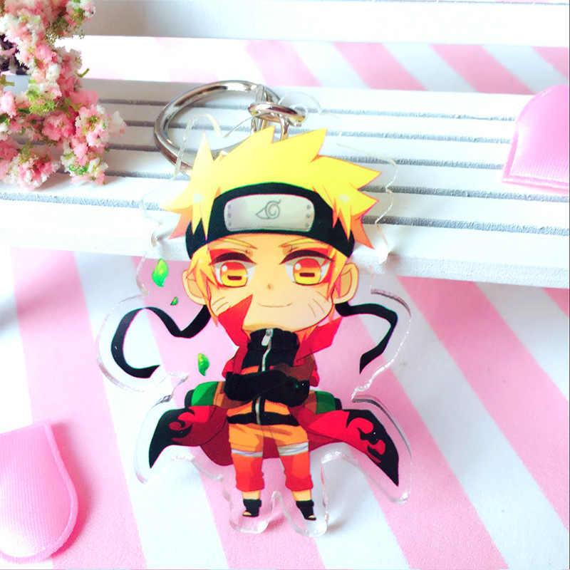 Hot Anime Naruto Schlüssel Ketten Halter Mode Japanischen Cartoon Hokage Ninjia Uchiha Sasuke Uchiha Itachi Schlüsselanhänger Schlüsselanhänger Schmuck