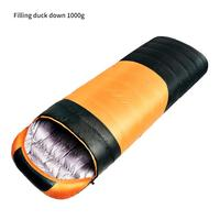Down sleeping bag duck down autumn and winter duck down sleeping bag camping sleeping bag envelope white duck down sleeping bag