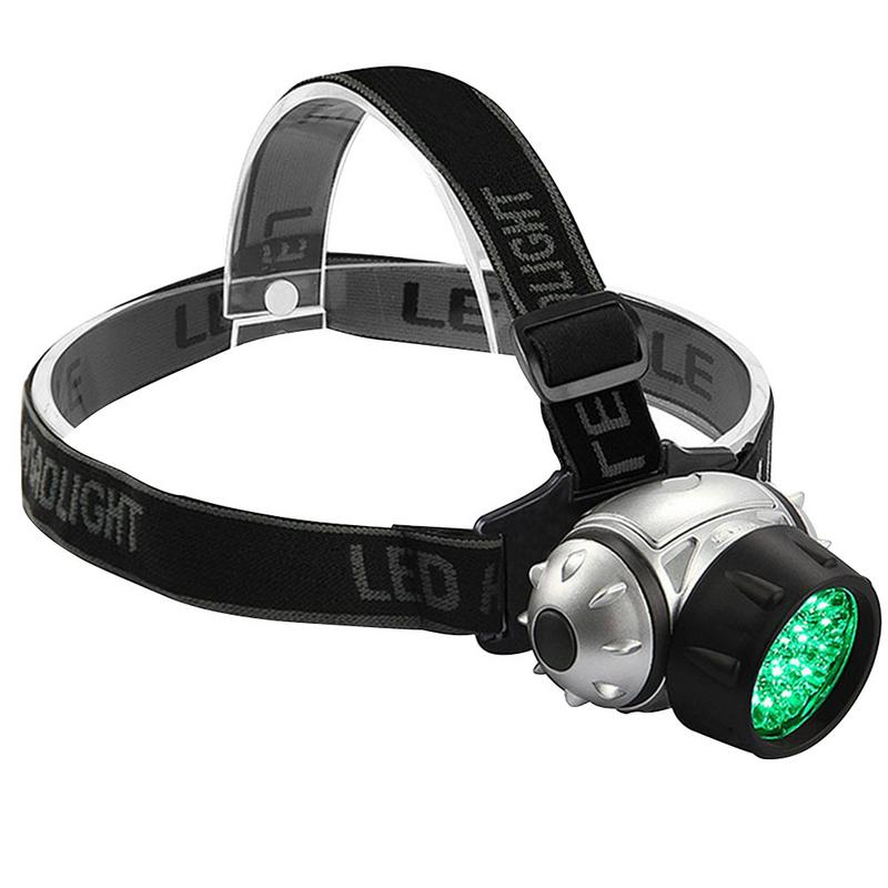 19 LED High Intensity Green Head Lamp Hydroponics Horticulture Grow Room Headlamp Flash Night Plant Growth Lamp