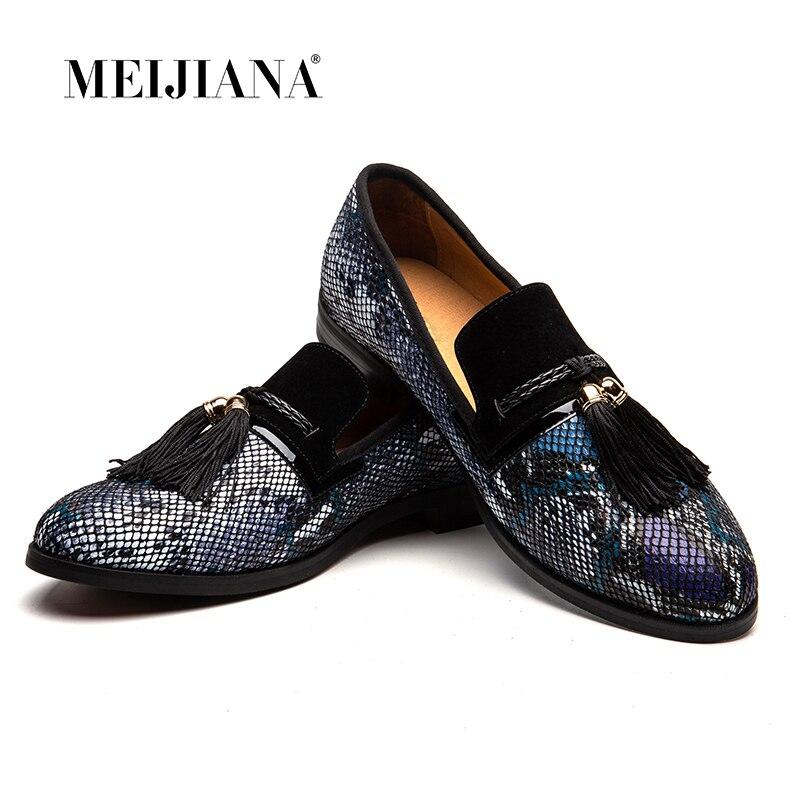 MEIJIANA Handicraft Comfort Design Loafers Men Brand Fashion 2019 New Slip on Sneakers Mens Genuine Leather