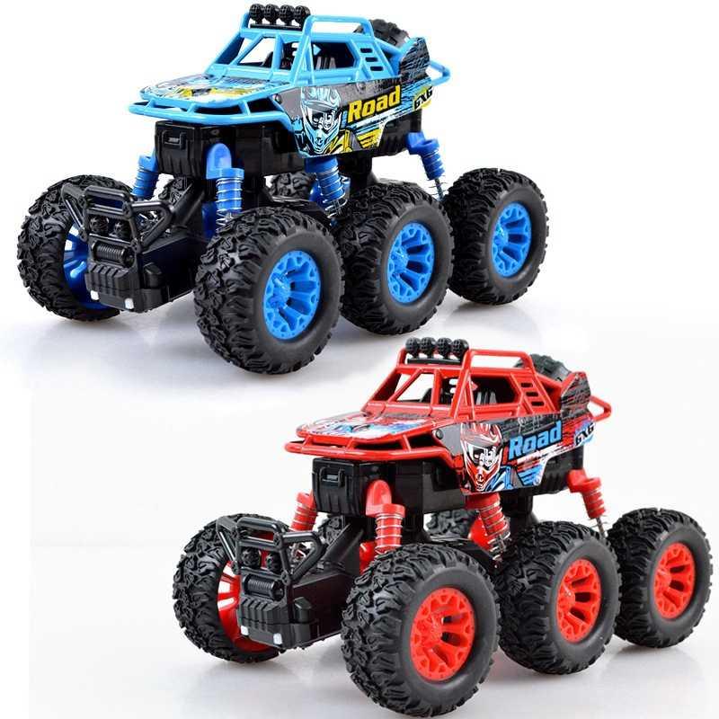 Six Wheel Backswing Climbing Car Toy Four-Wheel Drive Alloy Cross Country Climbing Toy Car