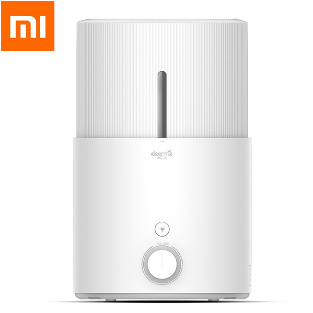 Original Xiaomi Deerma 5L Air Humidifier Mute Ultrasonic Home Aromatherapy Machine Aroma Humidifier Warm Light 3 Way Add WaterOriginal Xiaomi Deerma 5L Air Humidifier Mute Ultrasonic Home Aromatherapy Machine Aroma Humidifier Warm Light 3 Way Add Water