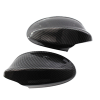 2x Car Glossy Carbon Fiber Side Mirror Cover Cap Replace Parts For BMW E90 05 07