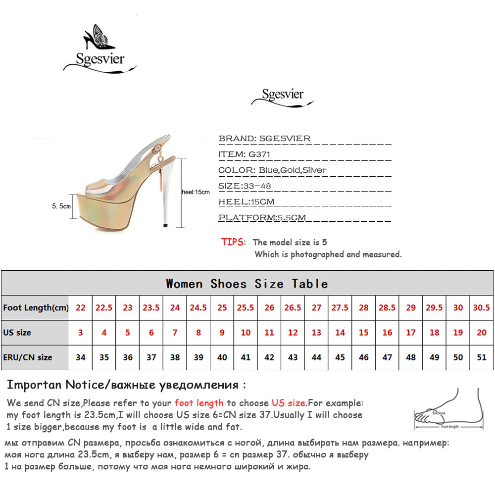 Sgesvier 2019 Size 48 women gladiator sandals pu sexy stiletto platform shoes female peep toe summer wedding shoes woman G371 in High Heels from Shoes