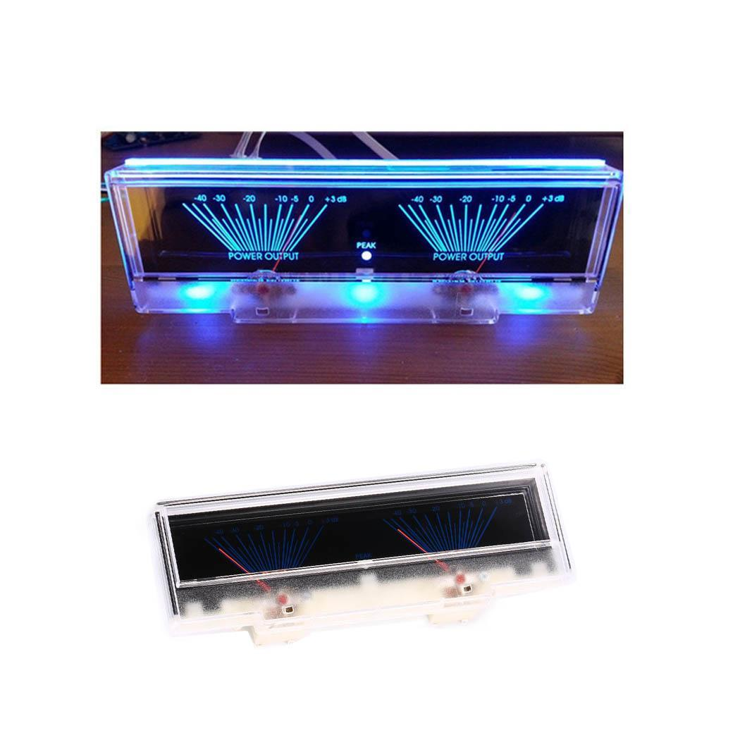 Hot Power Amplifier Panel Dual Analog 12V DC VU 30~+70 Degree Meter Audio Level dB >50M Meter With Backlit