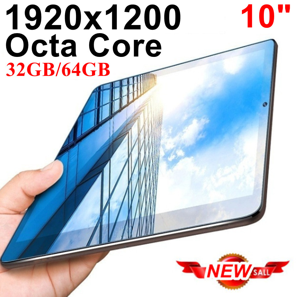 KUHENGAO Ultra Slim IPS 10 Inch Tablet Android Tablet Pcs 8 Octa Core 4G LTE Mobile Phone Android 32GB 64GB Tablet Pc 1920x1200
