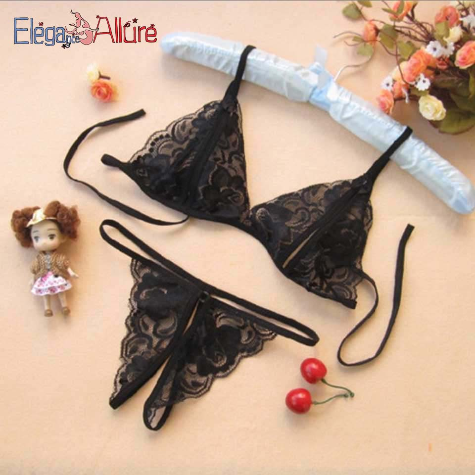 E&A Sexy Lingerie Set Hot Erotic Women Lenceria Porno Transparent Underwear String Bra G String Sets Lady Costume Open Panties