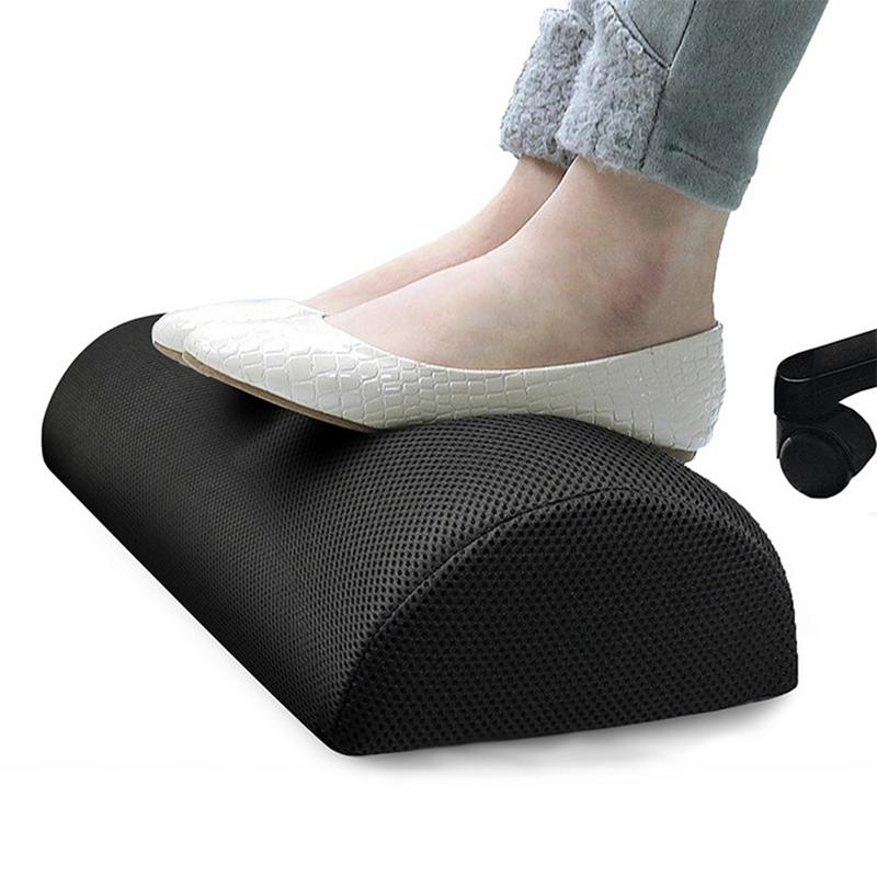 Slow Rebound Tread Pad Stretch Cotton Rest Pad Leg Leg Pillow Household And Office Footrest Pad For Under Desk