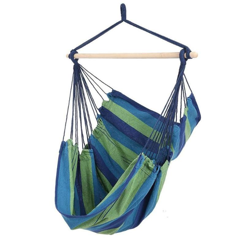 2019 New Hanging Rope Chair Hammock Chair Hanging Chair Swing Chair Seat With 2 Pillows For Indoor Outdoor Garden