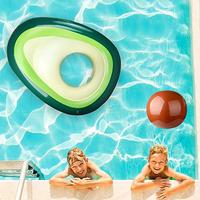 Summer Inflatable Avocado PVC Floating Water Hammock Lounger Inflatable Floating Bed Beach Swimming Pool Lounge Bed Chair