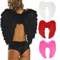 alas angel disfraz Alas de hada de plumas de Navidad para adultos, vestido de regalo para adultos, decoración bonita, alas de Ángel, decoración de Halloween