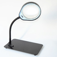 8X LED Desktop Magnifying Glass Table Magnifier Lamp 110 220V Inspection Repair Tools