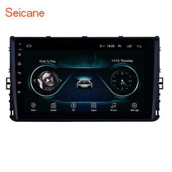Seicane 2Din Android 8.1 9 inch GPS Car Radio Head Unit For 2018 VW Volkswagen Universal Polo Golf Passat b5 b6 t4 t5 With RDS image