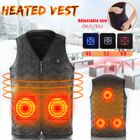Men Women Winter Heated USB Work Jacket Coats Electric Heating Vest 3 Gear Adjustable Temperature Control Safety Clothing M/L/XL