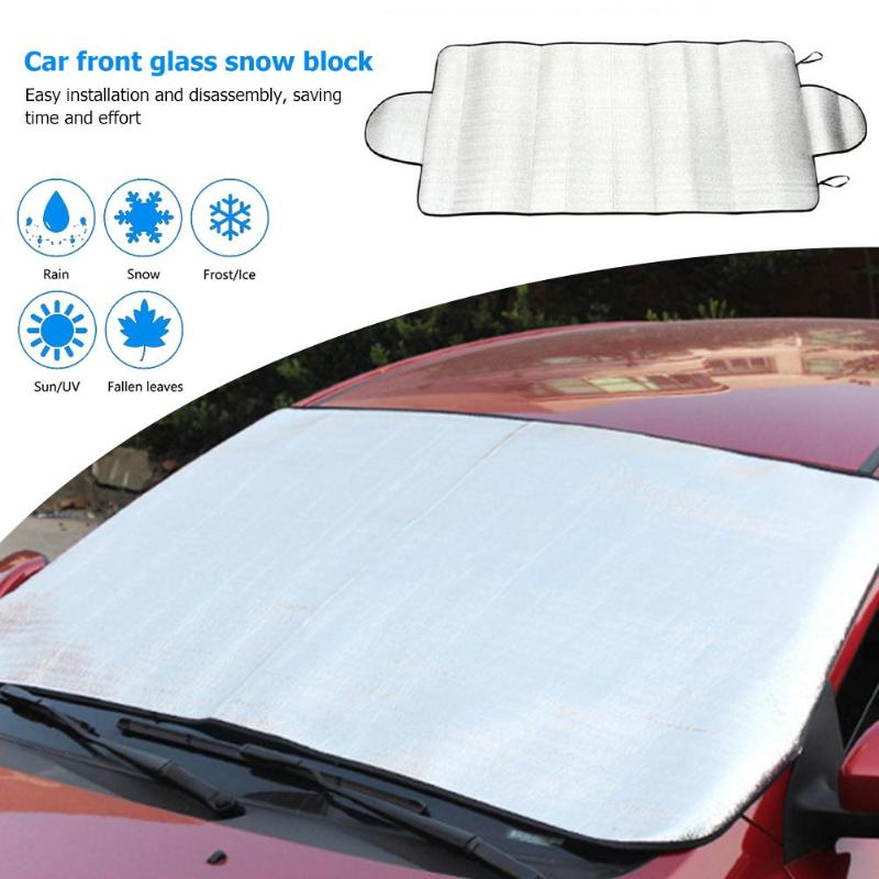 VODOOL Winter Car Front Windshield Snow Ice Shield Guard Protector Cover Auto Windscreen Sunshade Snow Blocked Sun Shade Covers