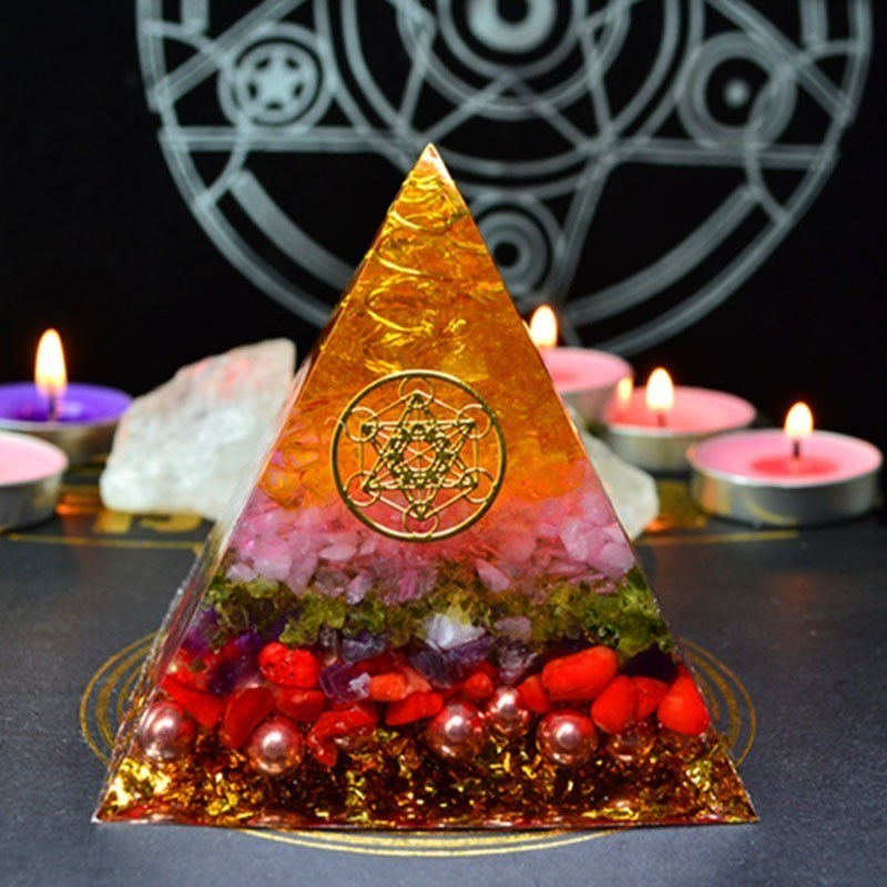 Orgonite Energy Pyramid Decoration Orgone Accumulator Stone That Changes The Magnetic Field Of Life Reiki Healing Resin Jewelry
