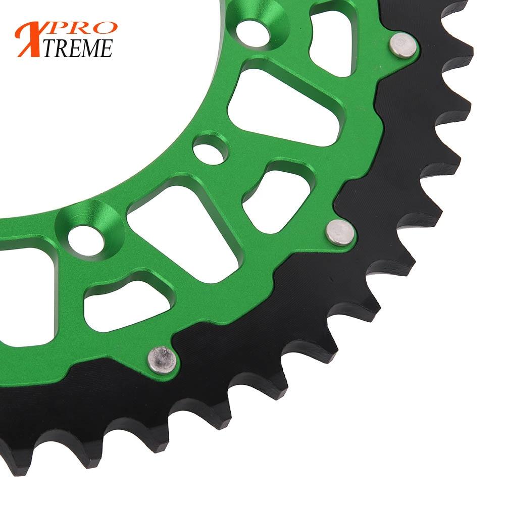 Motorcycle 42 44 46 47 49 50 51 52 Rear Chain Sprocket For KAWASAKI KDX KLX 250 350 450 R 650 KX 125 KX125 KX250 KX250F KX450F