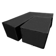 Mayitr L Shape Corner Wicker Sofa Garden Furniture Cover Waterproof Dustproof Protect All Purposes-Cover 2 Size