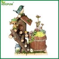 Baby Groot Flower Pot Handmade Bonsai Pot Planter Model Toy Pen Holder Plant Pot Home Desktop Decoration Christmas Kids Gifts