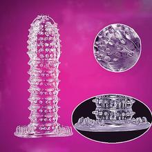 2019 New Wholesale Drop Shipping 5 Pcs Men Penis Covers Lengthen Delay Sex Products Finger Cock Ring Set Sex Toy