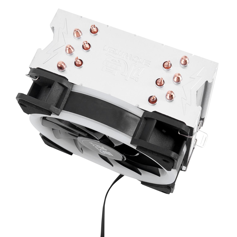 Image 3 - Кулер для процессора с изображением снеговика 4PIN, 6 тепловых  труб, один RGB светодиодный вентилятор охлаждения 12 см, вентилятор  LGA775 1151 115x1366, Поддержка Intel AMDКулеры/вентиляторы/системы  охлаждения