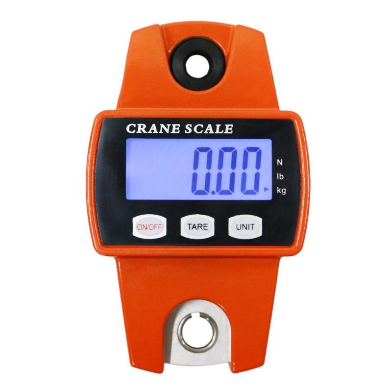 300kg Electronic Balance Portable LCD Electronic Scale Digital Industrial Crane Scale Heavy Duty Hanging Weighting Hook Scales