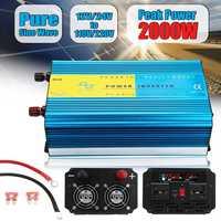 Autoleader солнечный инвертор 12 В 24 к AC 110 220 3000 Вт Чистая синусоида алюминий сплав для автомобиля и грузовик