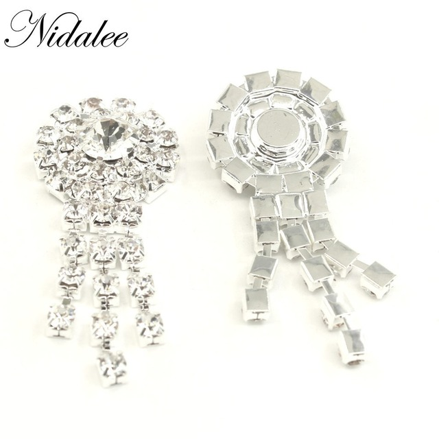 5b11b7e698 US $4.74 5% OFF|Crystal Diamond Rhinestone Flatback Gem Buttons DIY  Clothing Applique Metal Craft Decoration for Bridal Embellishment Dress  5pcs-in ...
