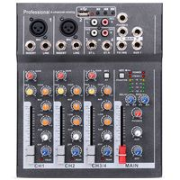 Eu Plug Mini Portable Audio Mixer With Usb Dj Sound Mixing Console Mp3 Jack 4 Channel Karaoke 48V Amplifier For Karaoke Ktv Ma