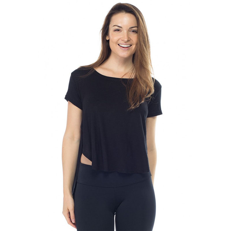 Womens Yoga Tops Quick Dry Fitness Sports Short Sleeve T