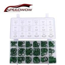 SPEEDWOW 270 шт резиновое уплотнительное кольцо прокладка зеленый метрический уплотнительное кольцо нитрил кондиционер уплотнительное кольцо уплотнения шайба комплект