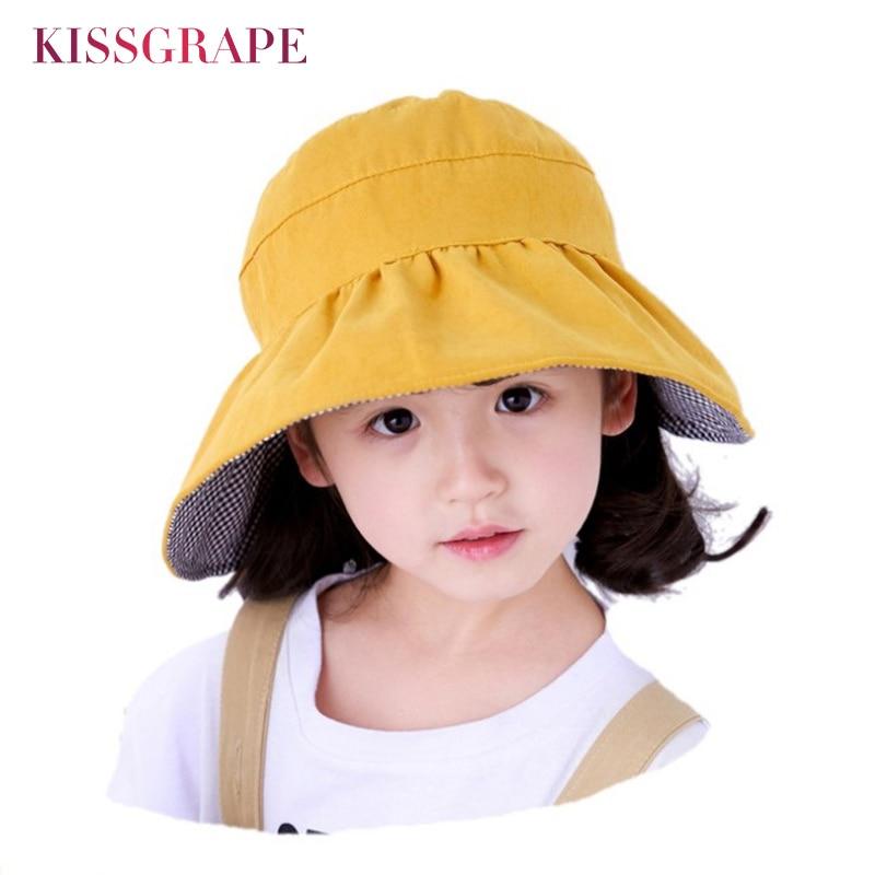 Baby Sun Hats Cotton Children Bucket Hat Boys Girls Fisherman Hat Kids Beach Cap