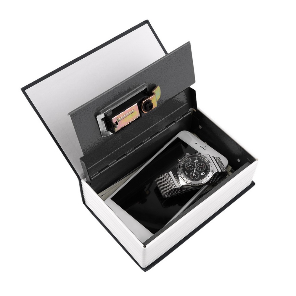 Hot Steel Black Simulation Dictionary Secret Book Safe Money Box Case Money Jewelry Storage Box Security