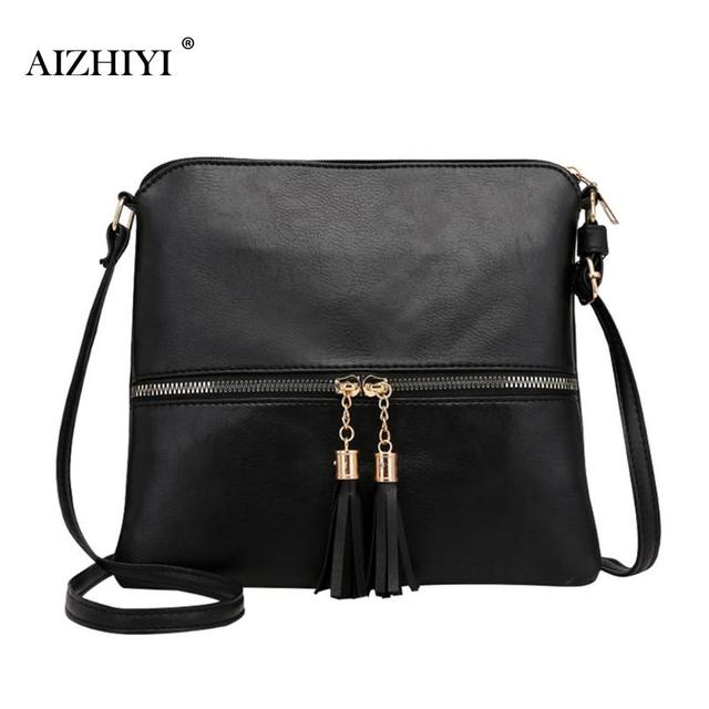 Tassel Shoulder PU Leather Women Bag Female Handbags Girls Messenger  Crossbody Bags Purse 2019 New Casual bag Bolsa Feminina 6d7ef0c8a18c6