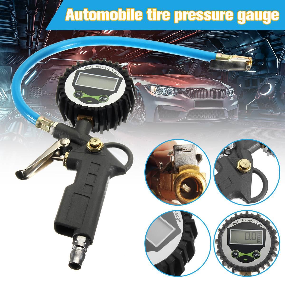 ZEAST Car Vehicle Digital Air Tire Pressure Truck LCD Inflator Gauge Dial Meter Tester Manometer Measuring Instruments