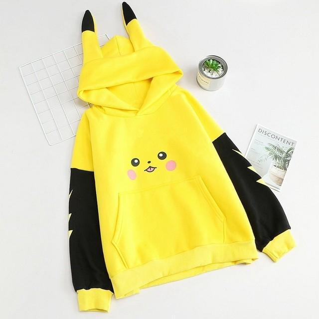 Pokemon Pikachu Sudadera Estampada con Capucha
