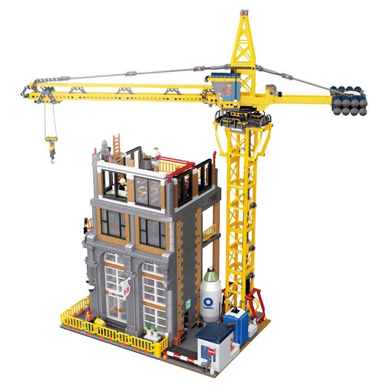 4425 шт. MOC Building Series Совместимость legoings 15031 строительство с краном набор строительные блоки кирпичи игрушки для детей