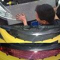 Autoleader  универсальный  100x33 см  автомобильная гоночная решетка  сетка  алюминиевая  автомобильная Черная решетка  сетчатая сетка  черный/сереб...