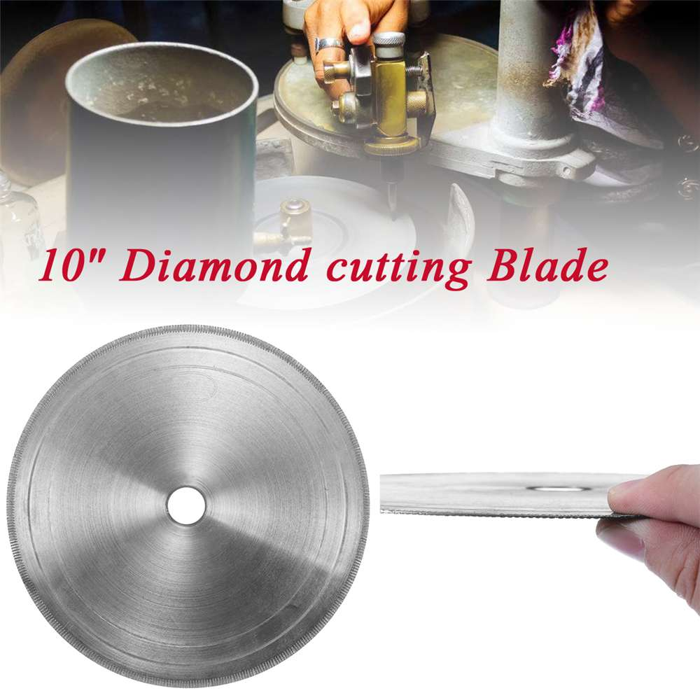 250mm 10 Inch Diamond Super Thin 0.7mm Jewelry Lapidary Saw Blade Cutting Disc Jade Gemstone Crystal Agate Cutting Disc Slice