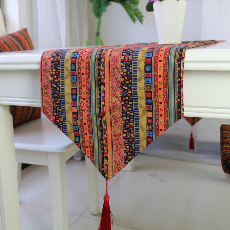 Tassels Table Runner Table Cloth Dining Table Mat Coffee Pads Home Decoration Table Cover Home Textile