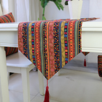 цена на Tassels Table Runner Table Cloth Dining Table Mat Coffee Pads Home Decoration Table Cover Home Textile