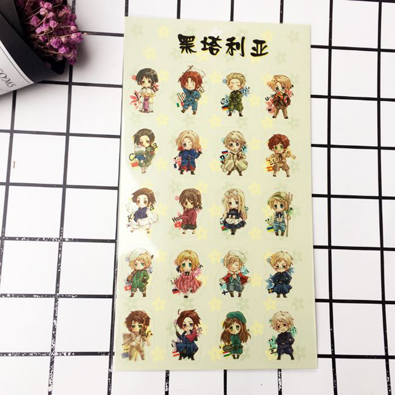 1 Pc Kawaii Anime Axis Power Hetalia Decorative Stickers Scrapbooking Stick Label Diary Album Stickers Classic Toy For Kids